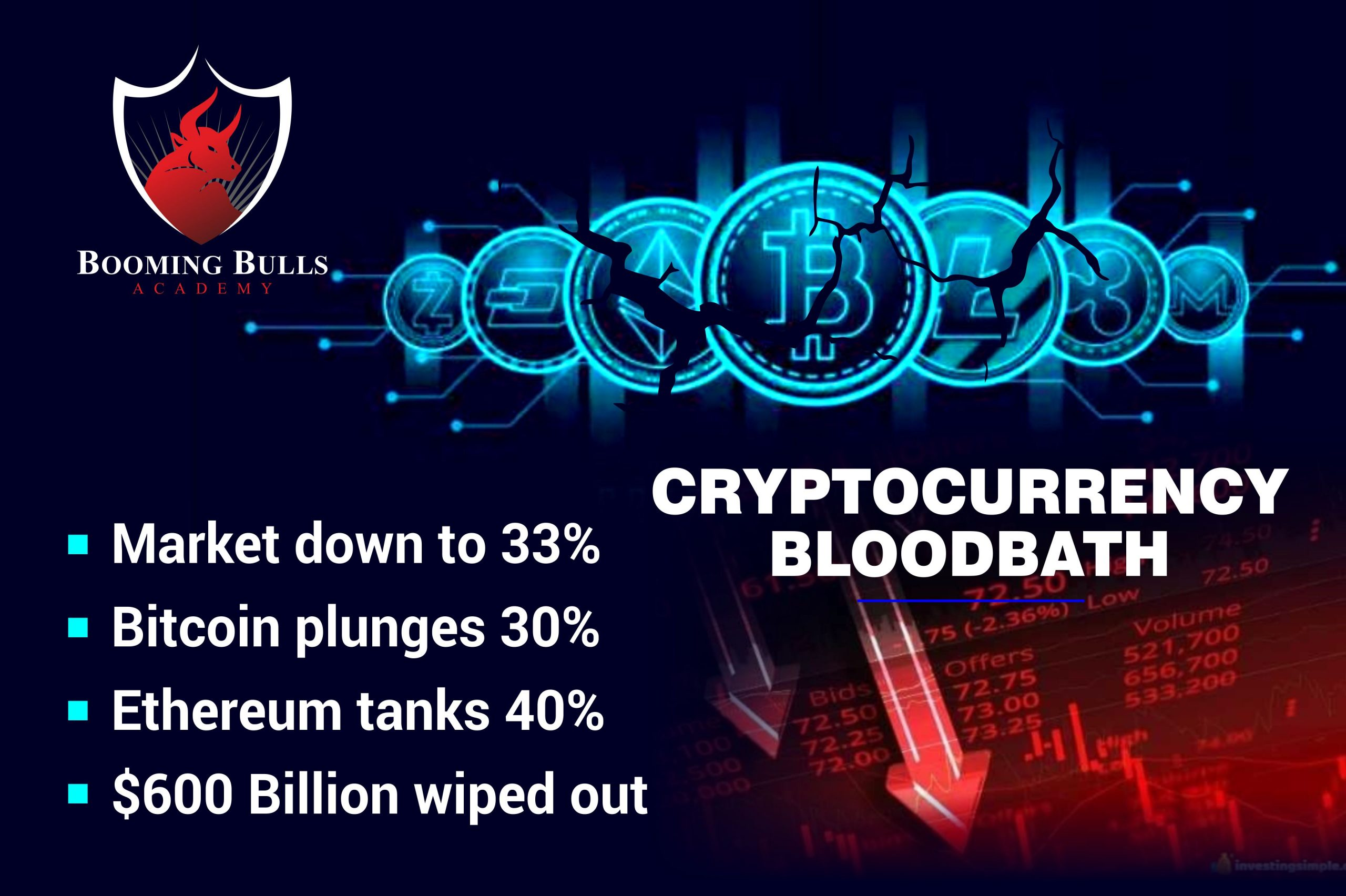 Cryptocurrency Bloodbath – $ 600 Billions Wiped Out From Crypto Markets